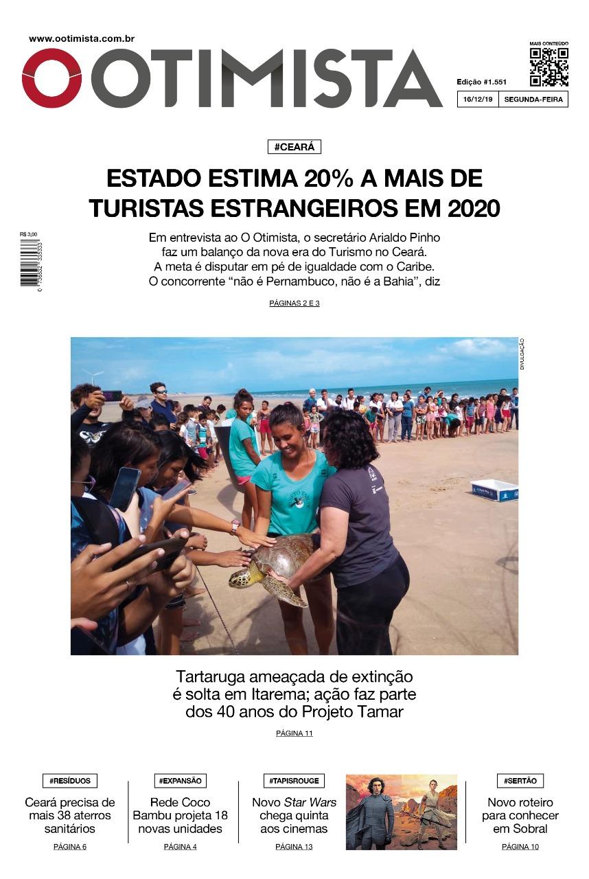 O Otimista - Edição impressa de 16/12/2019
