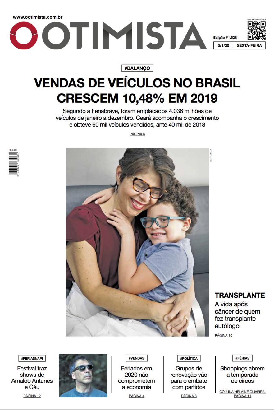 O Otimista - Edição impressa de 3/1/2020