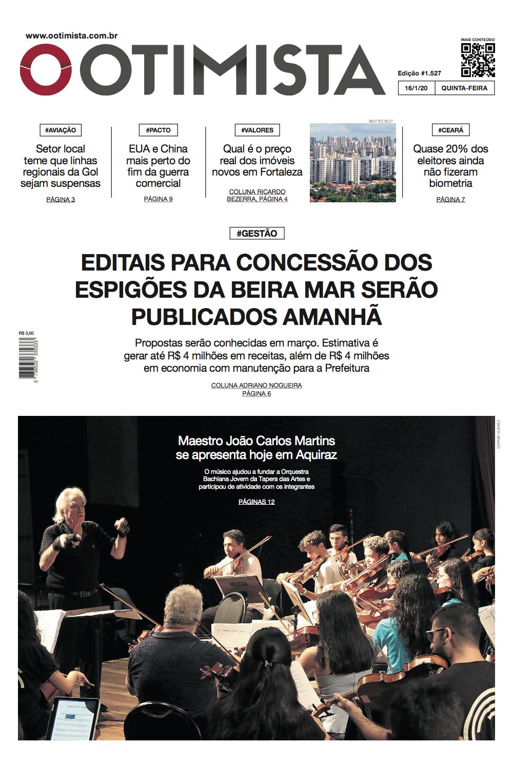 O Otimista - Edição impressa de 16/1/2020