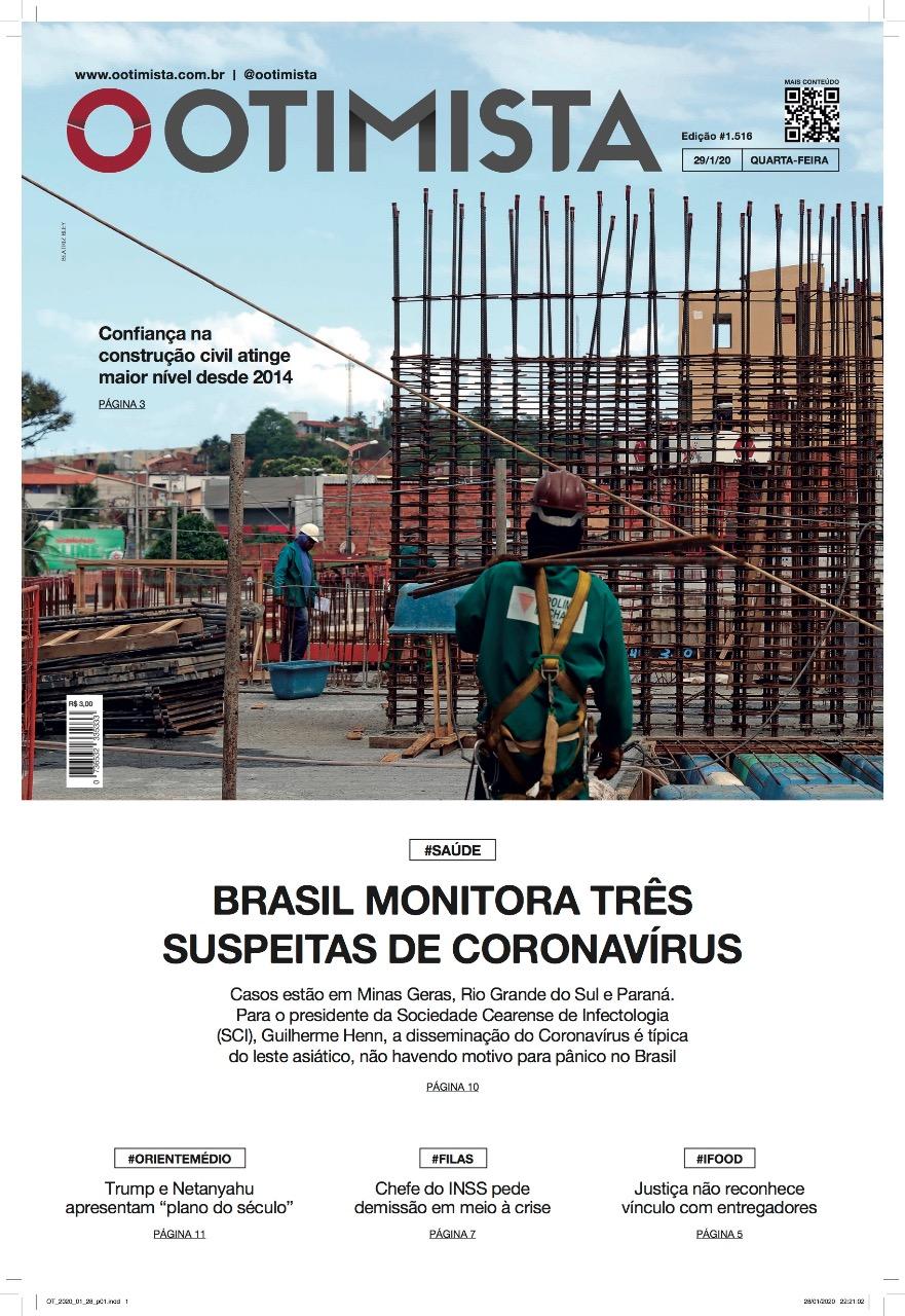O Otimista - Edição impressa de 29/1/2020