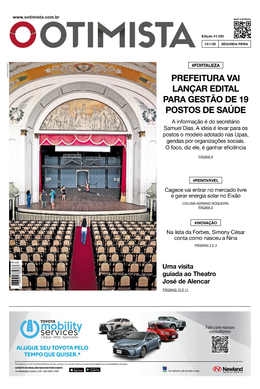 O Otimista – Edição impressa de 13/01/2020
