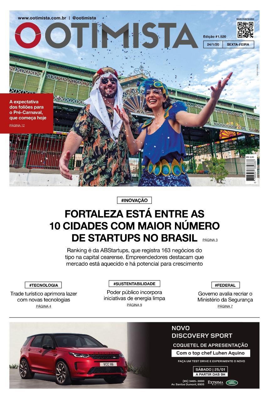 O Otimista - Edição impressa de 24/01/2020