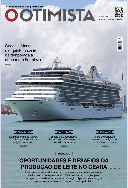 O Otimista - Edição impressa de 8 e 9/02/2020