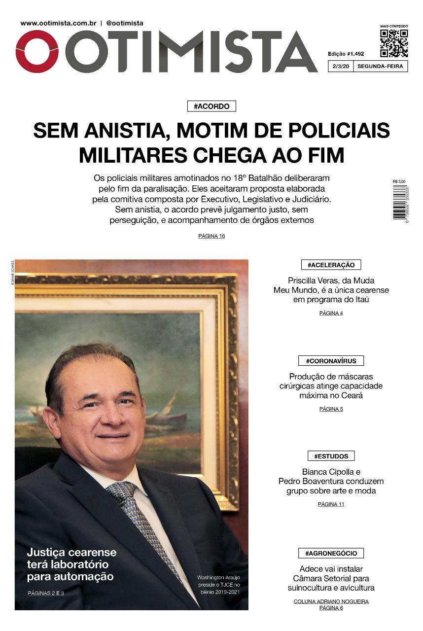 O Otimista - Edição impressa de 2/3/2020