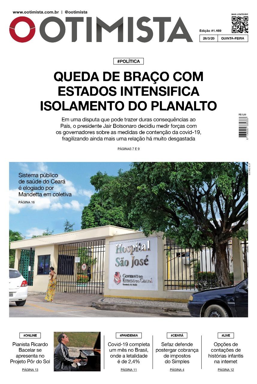 O Otimista  - Edição impressa de 26/03/2020