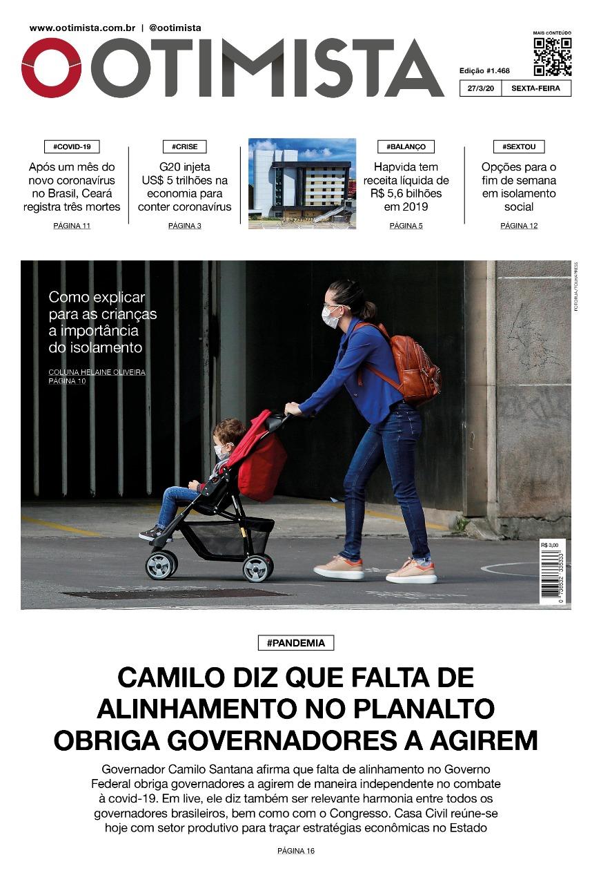 O Otimista - Edição impressa de 27/03/2020