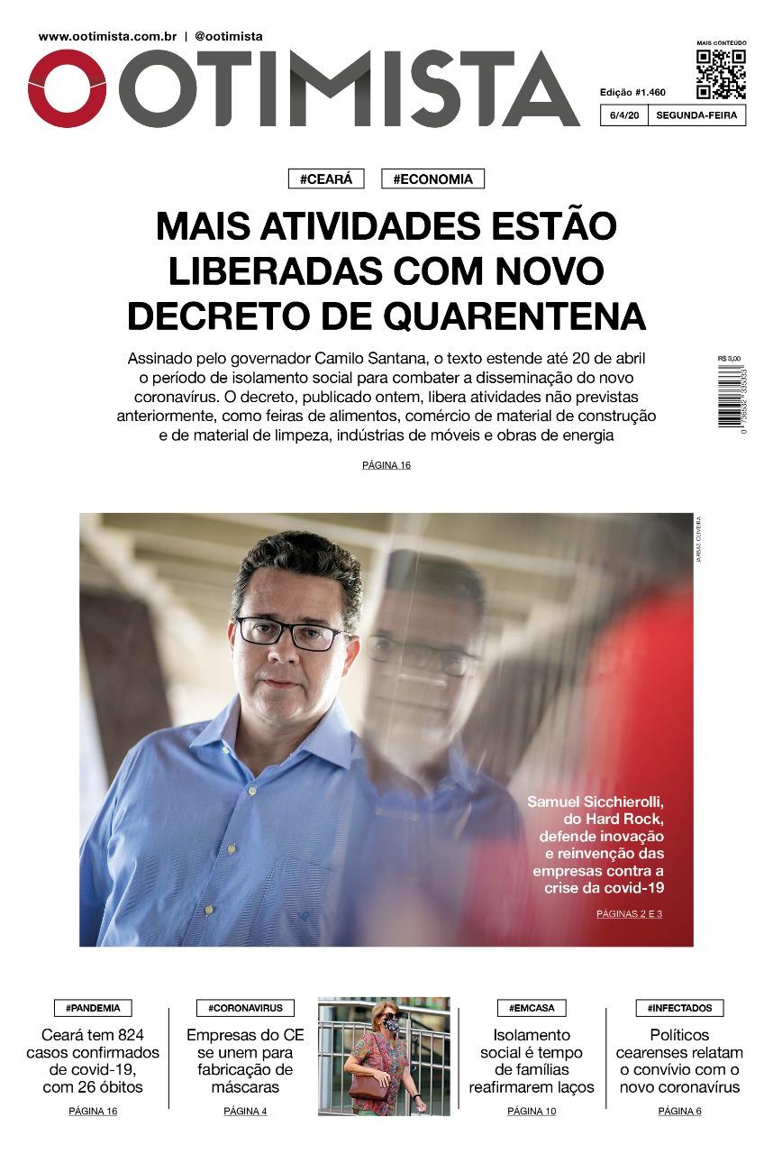 O Otimista - edição impressa de 6/4/2020