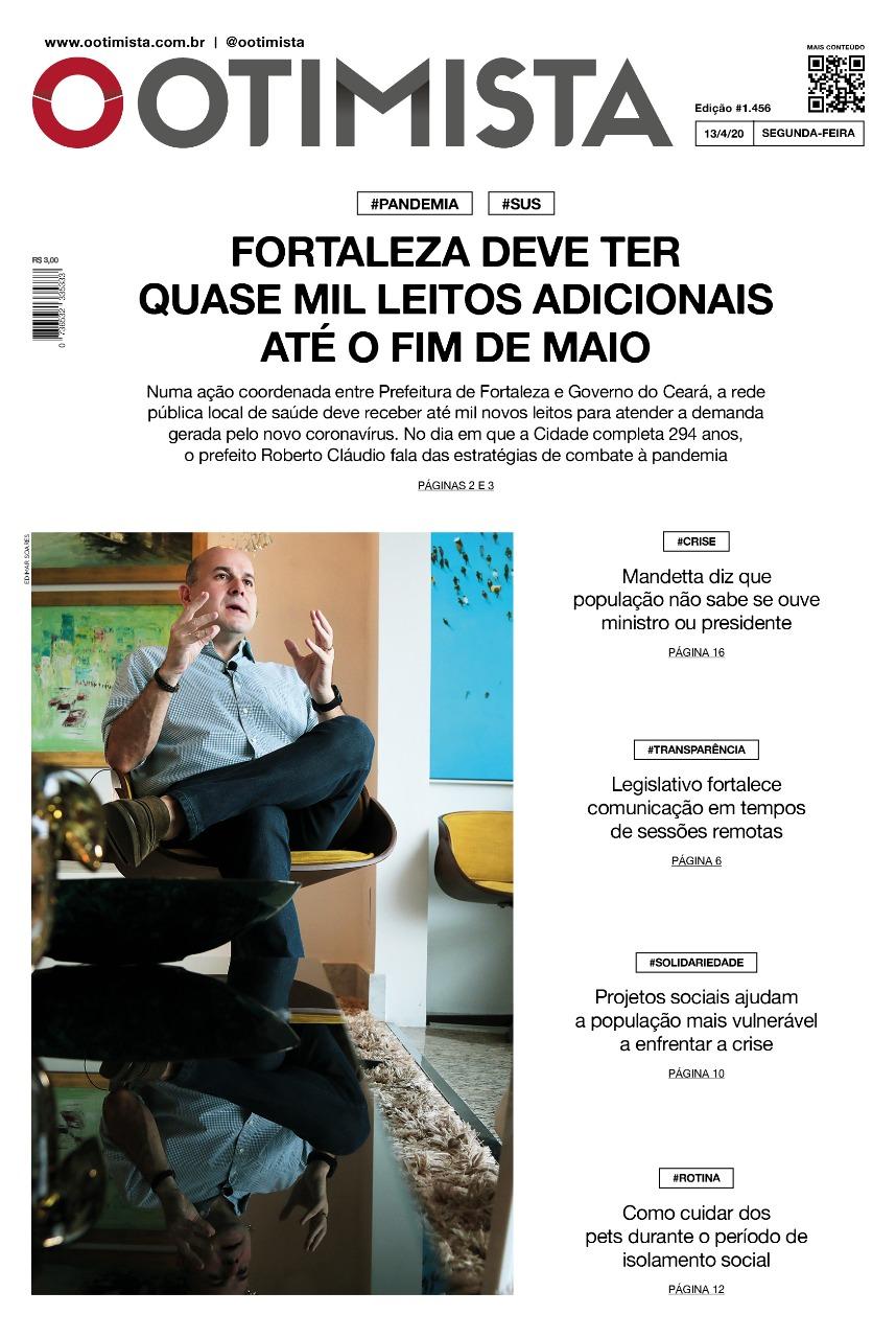 O Otimista - Edição impressa de 13/04/2020