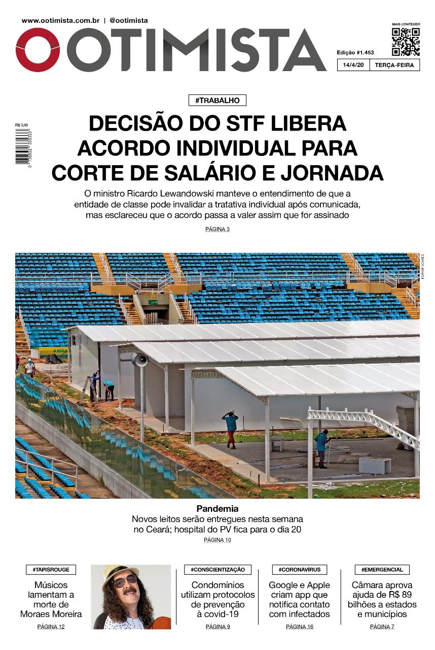 O Otimista - Edição impressa de 14/04/2020