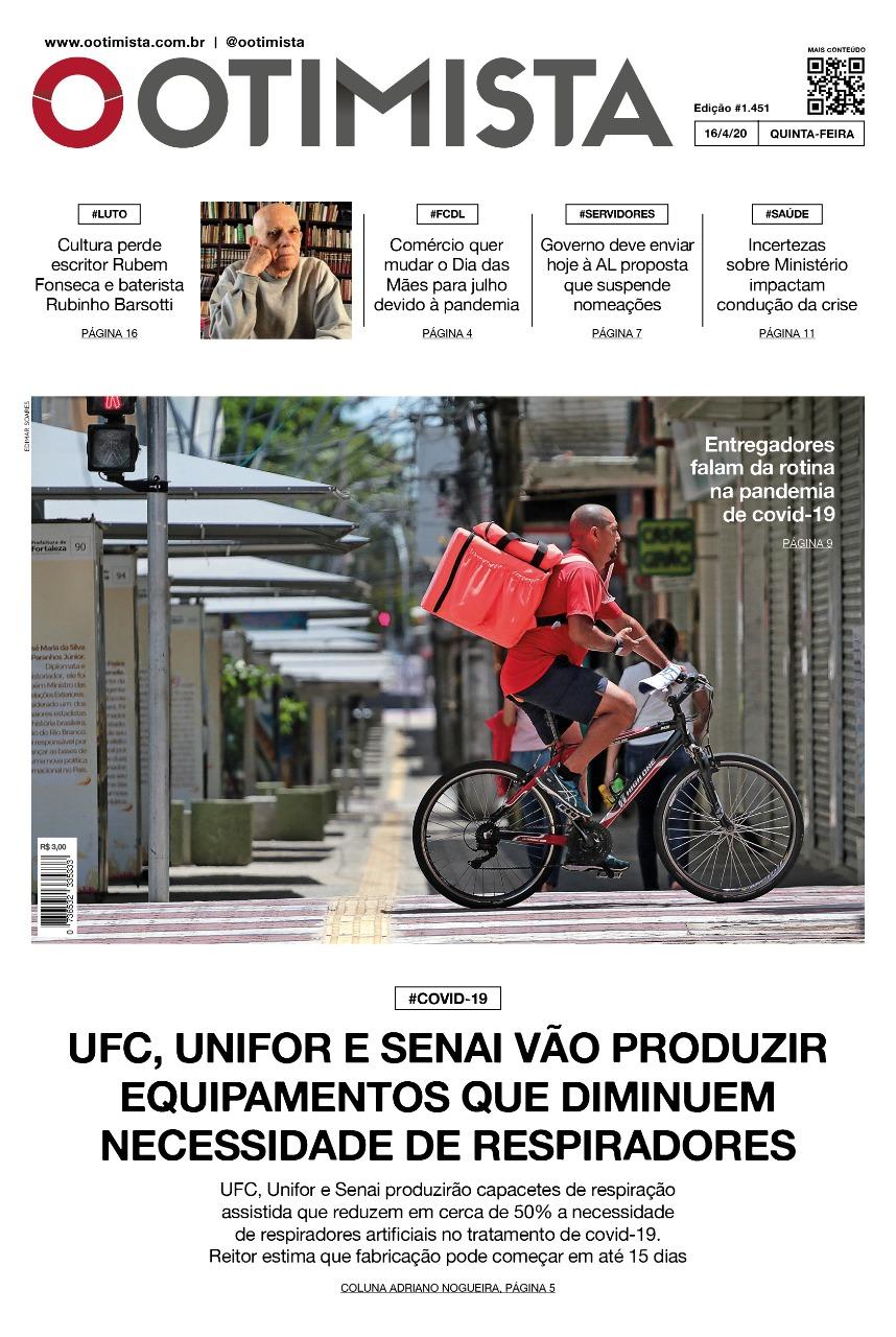 O Otimista - Edição impressa de 16/04/2020