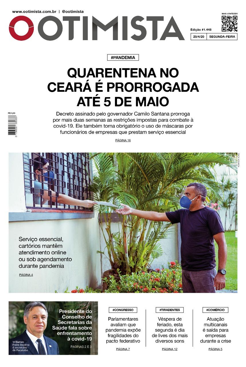 O Otimista - edição impressa de 20/04/2020