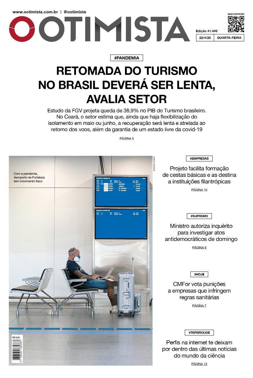 O Otimista - edição impressa de 22/04/2020