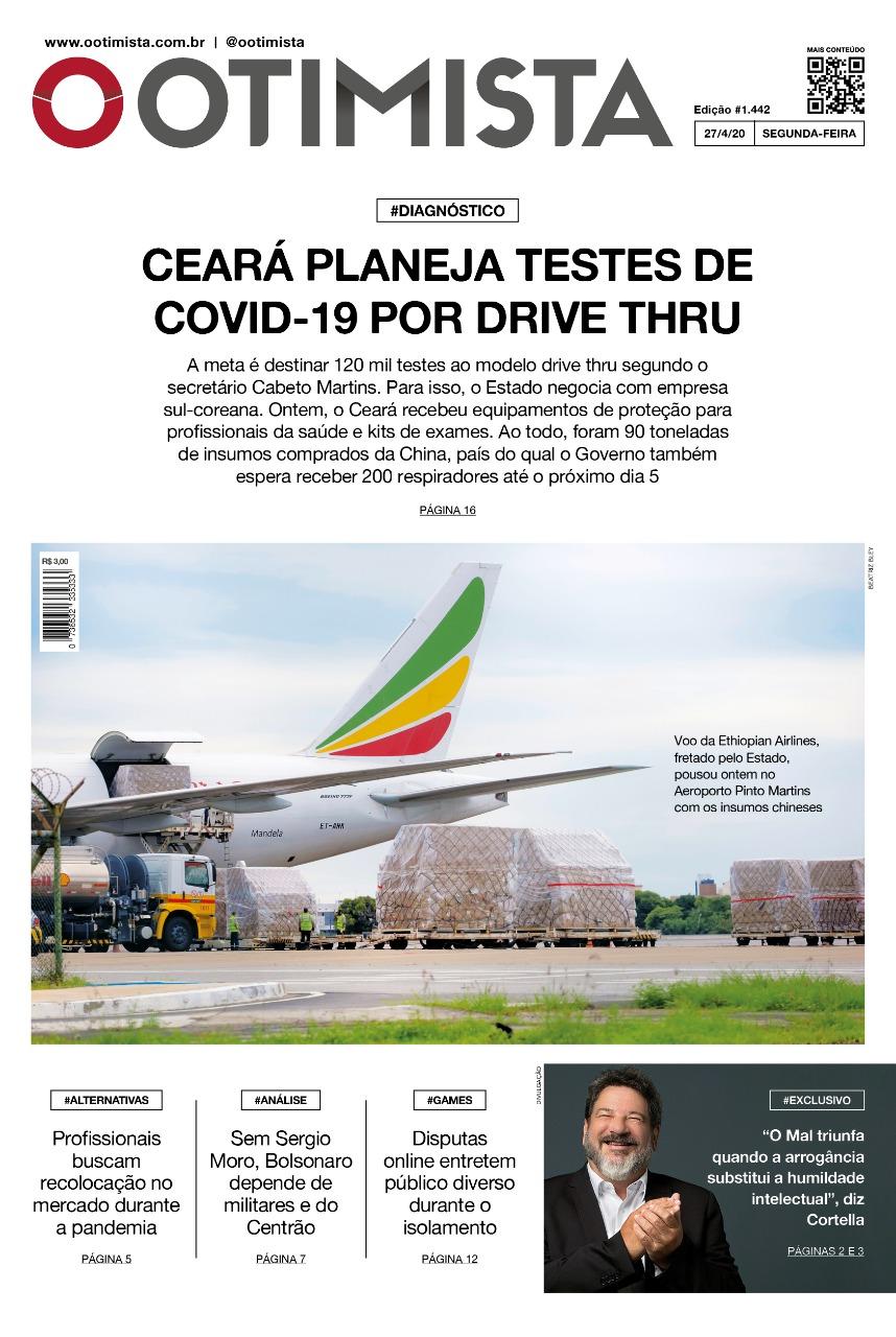 O Otimista - edição impressa de 27/4/2020