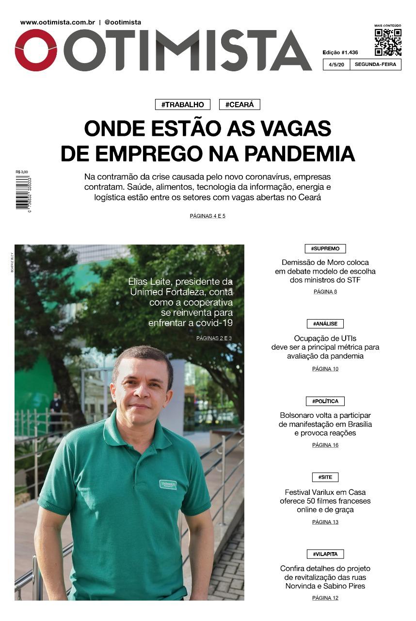 O Otimista - edição impressa de 04/05/2020