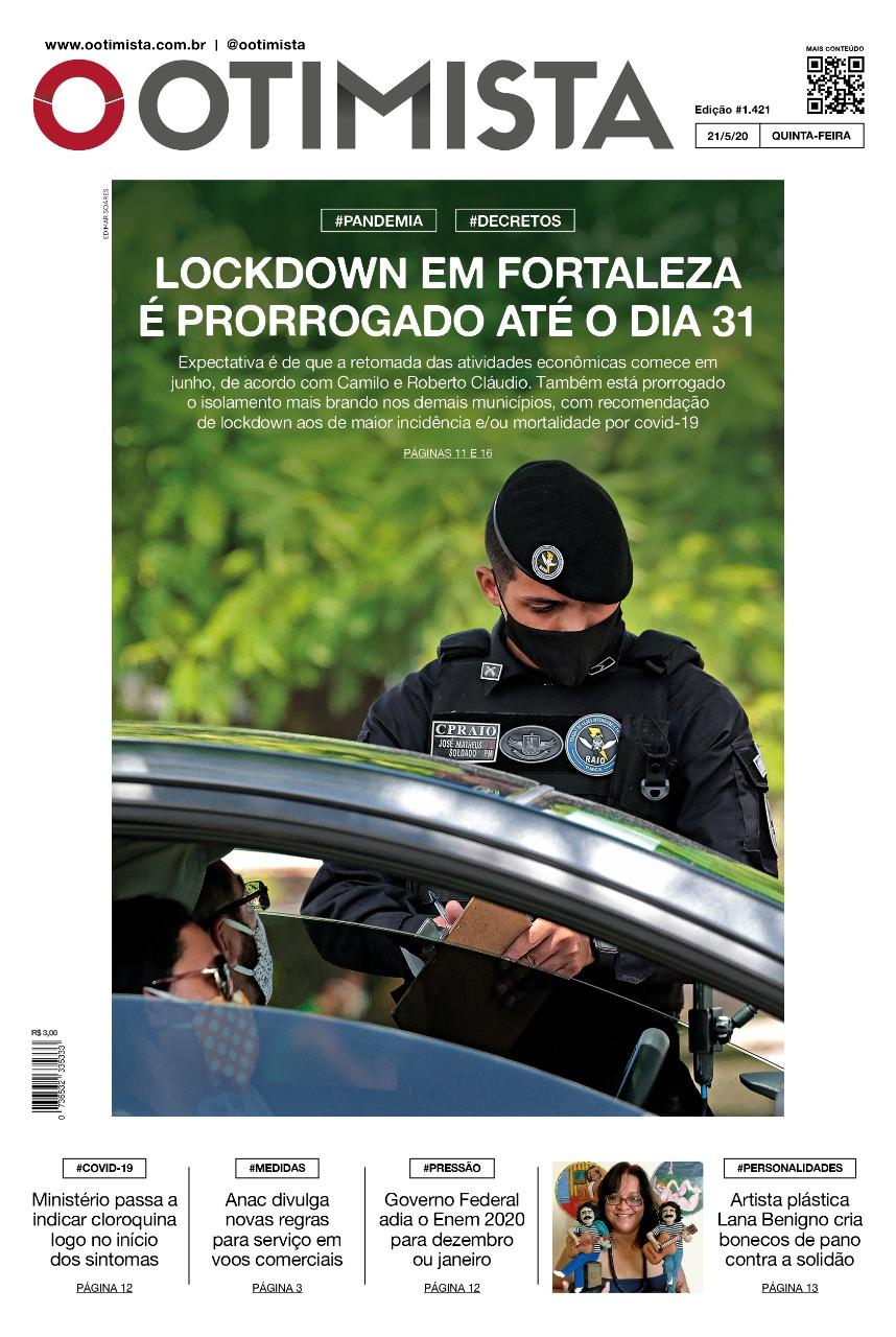 O Otimista - Edição impressa de 21/05/2020