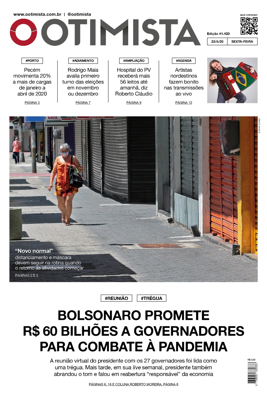 O Otimista - Edição impressa de 22/05/2020