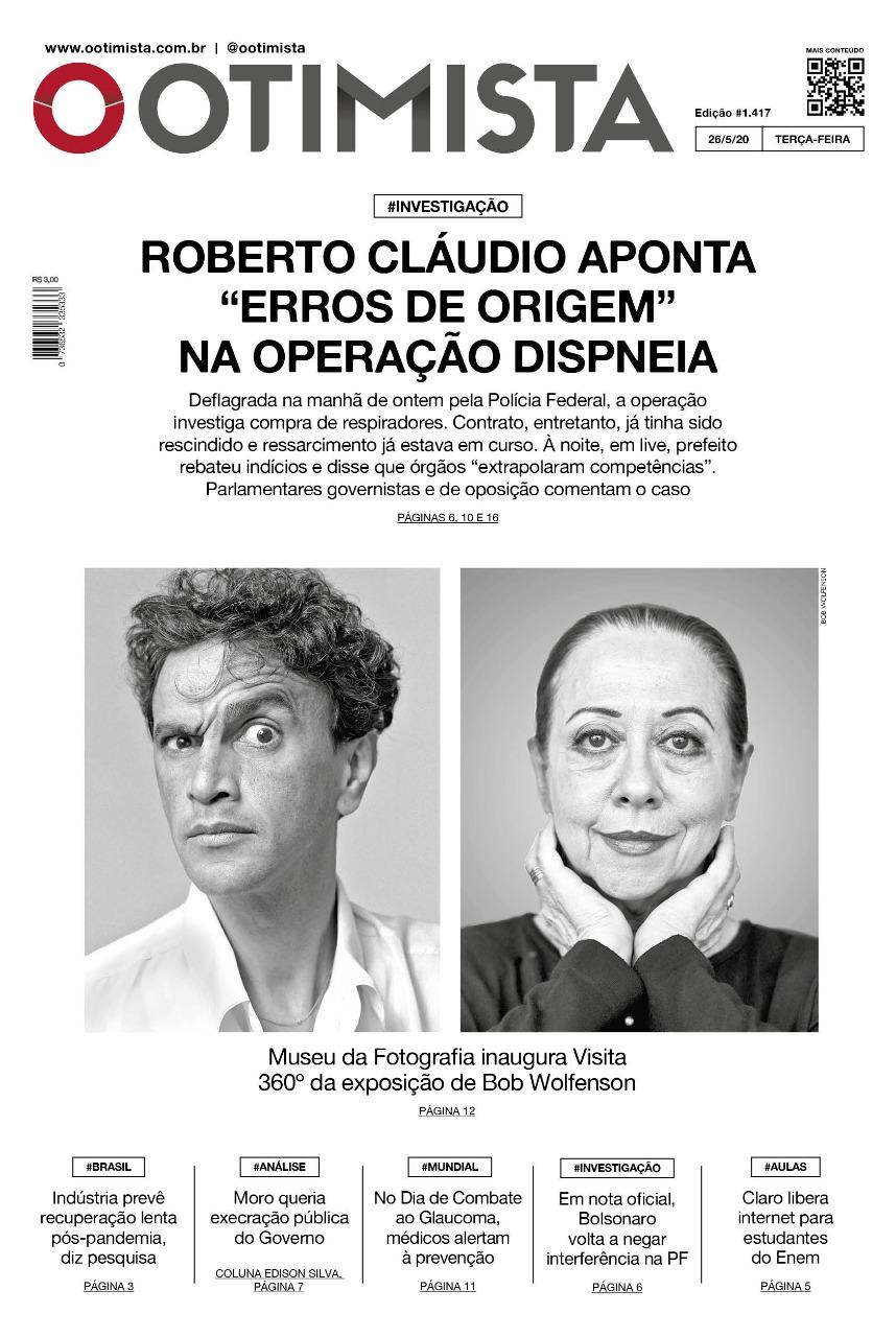 O Otimista - Edição impressa de 26/05/2020