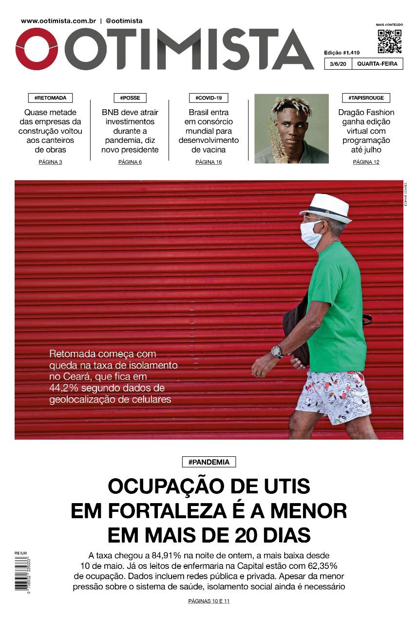 O OTIMISTA – EDIÇÃO IMPRESSA DE 3/06/2020