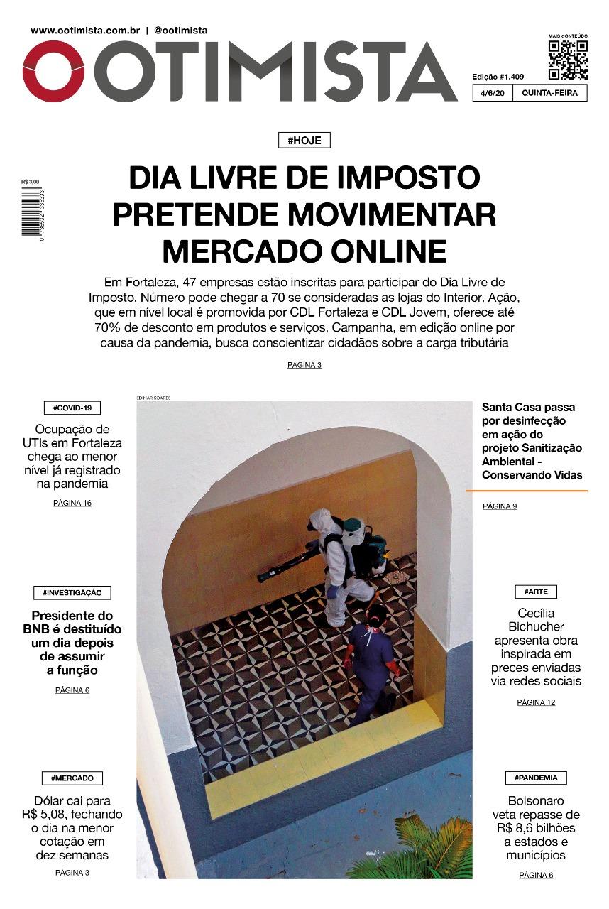 O Otimista - Edição impressa de 04/06/2020