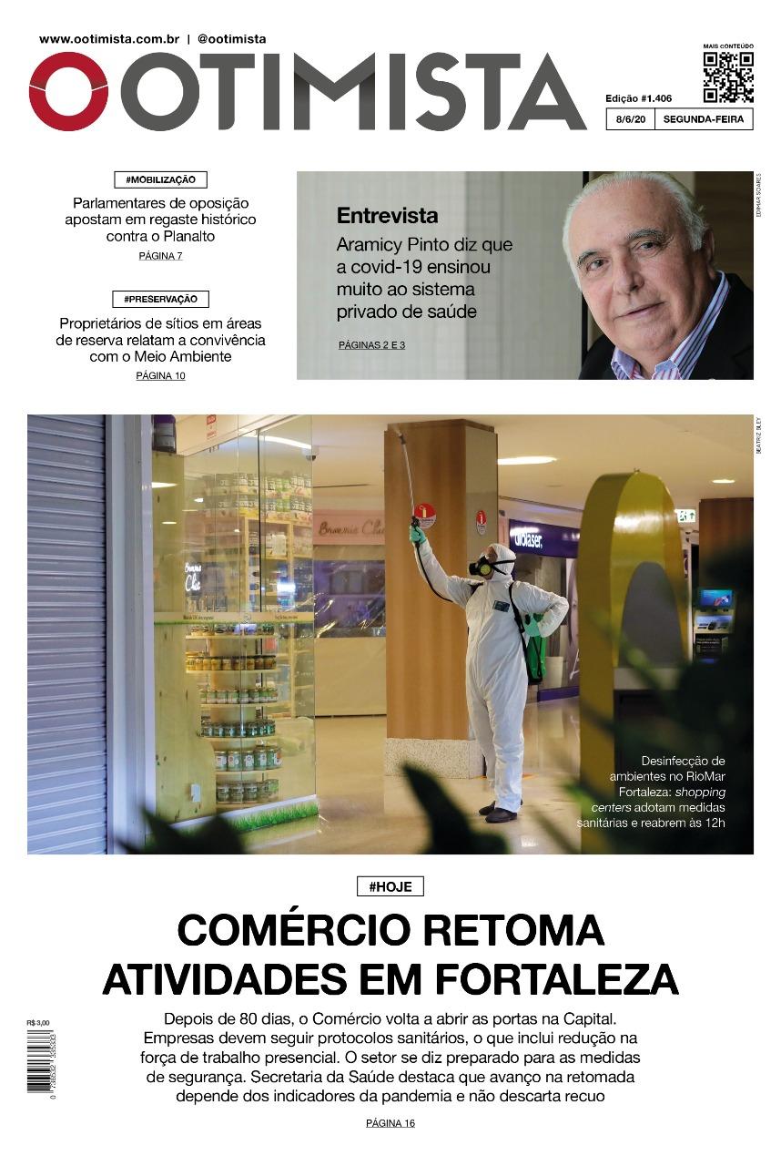 O Otimista - Edição impressa de 8/6/2020