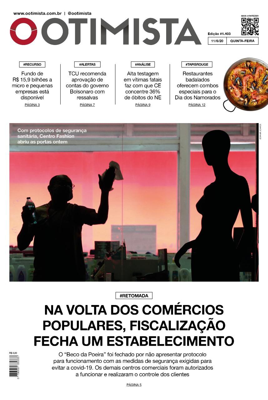 O Otimista - Edição impressa de 11/06/2020