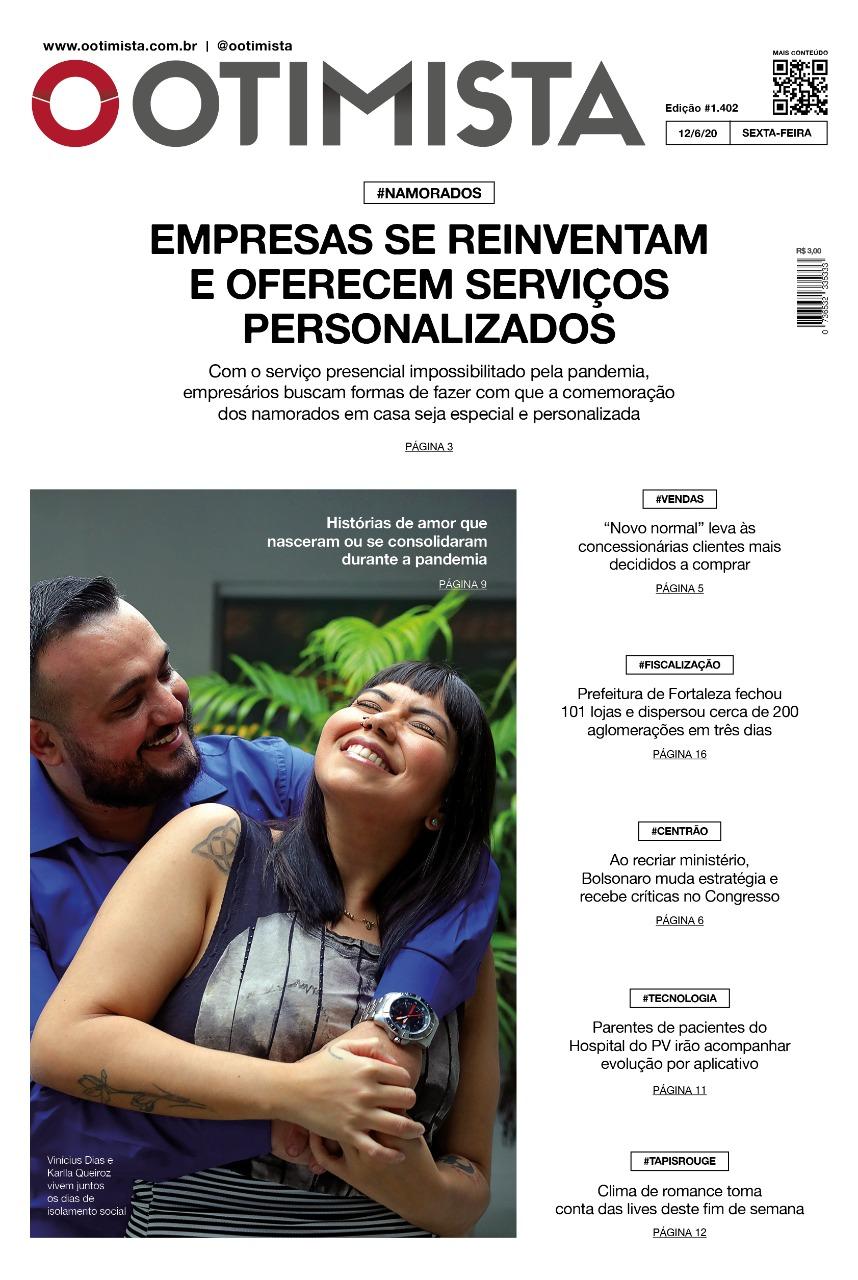 O Otimista - Edição impressa de 12/06/2020
