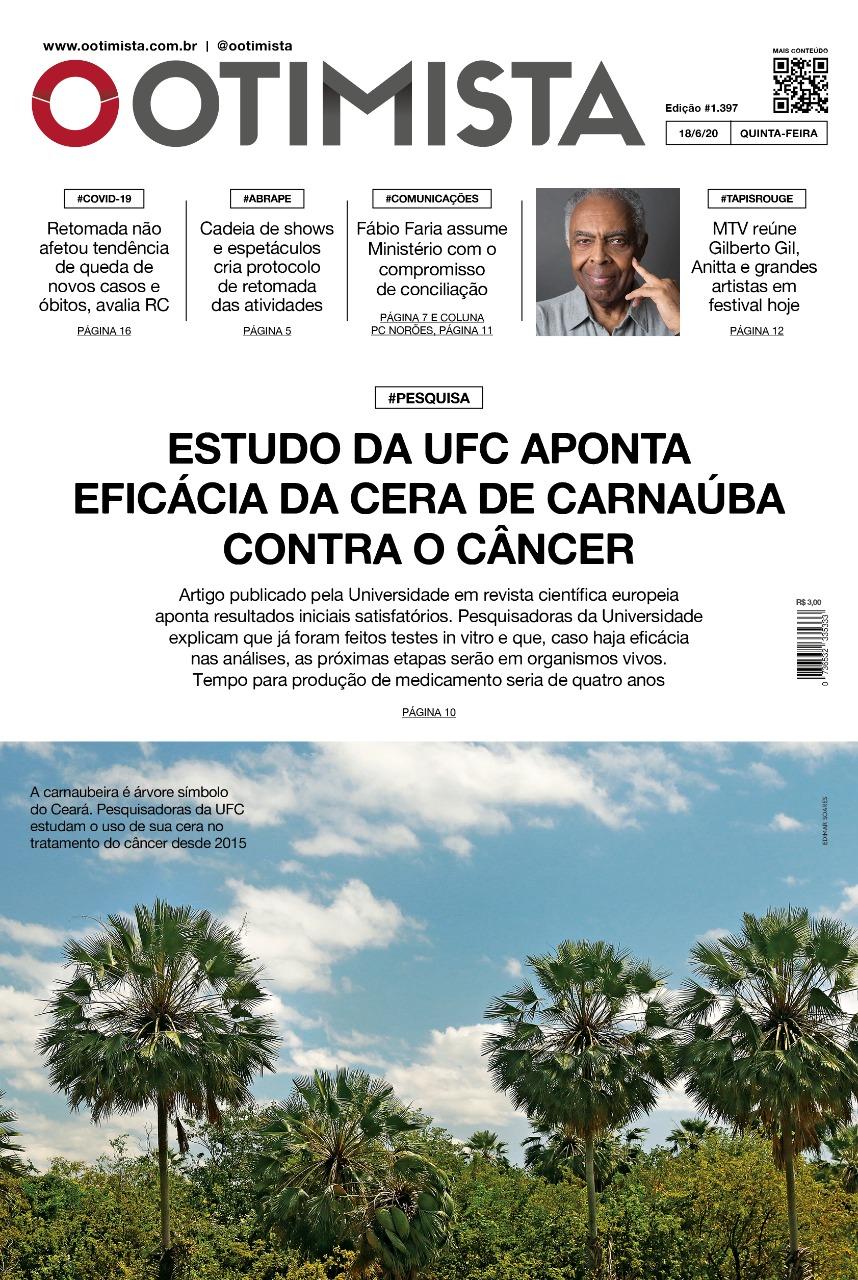 O Otimista - Edição impressa de 18/06/2020