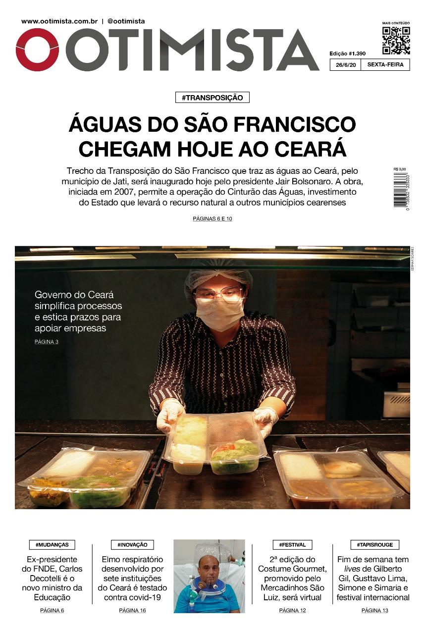 O Otimista - Edição impressa de 26/06/2020