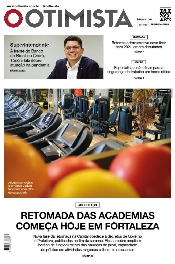 O Otimista - edição impressa de 27/07/2020