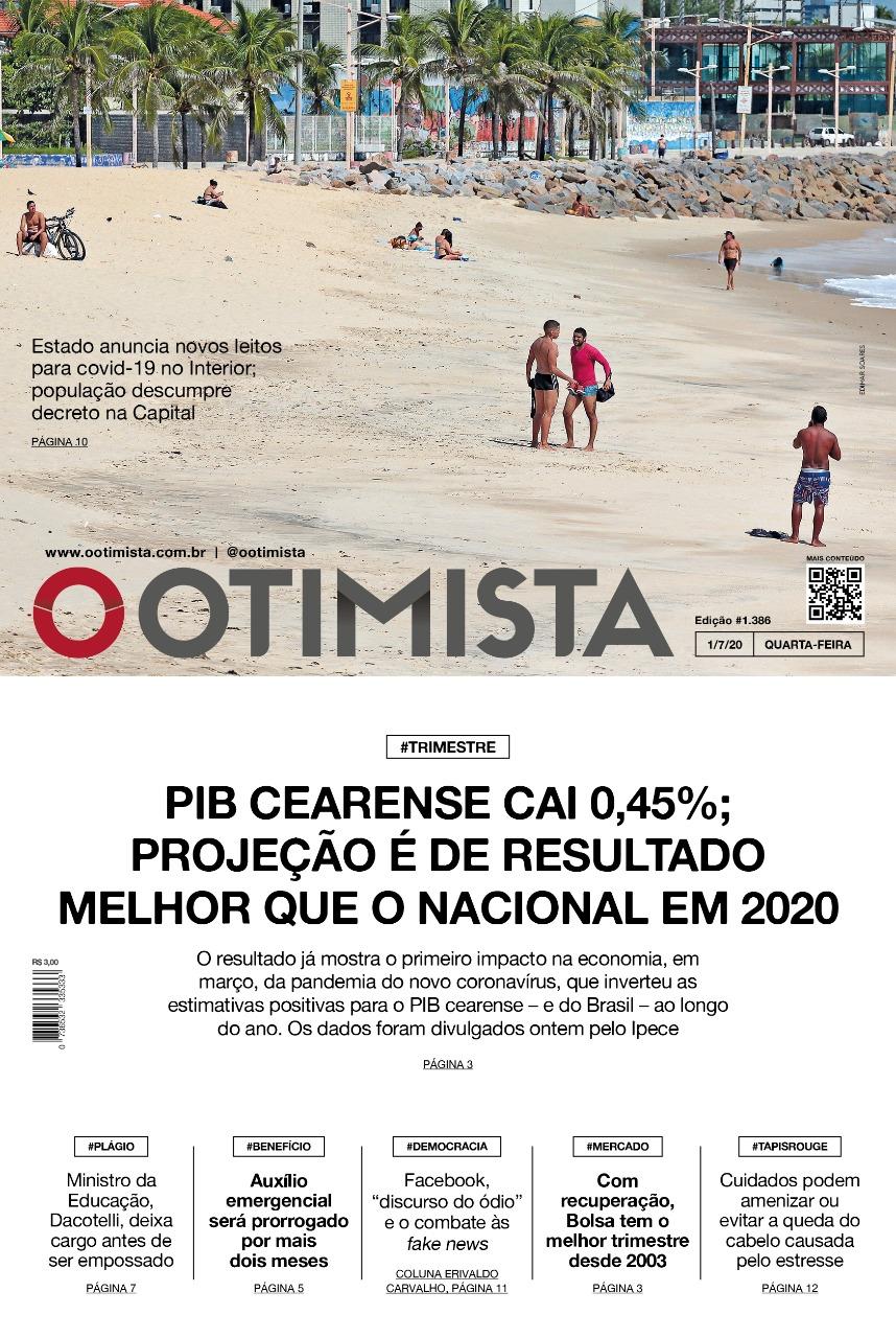 O Otimista - Edição impressa de 01/07/2020