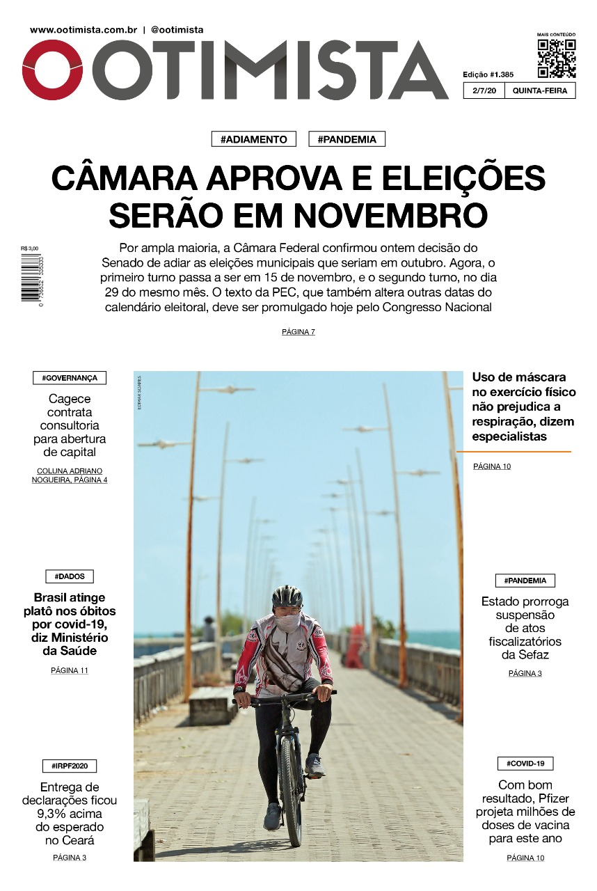 O Otimista - Edição impressa de 02/07/2020