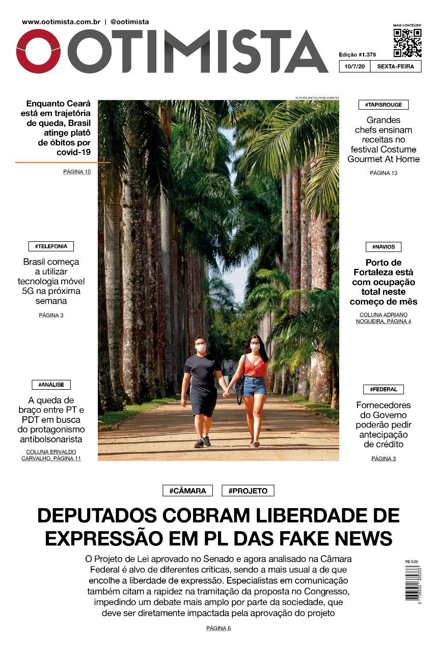 O Otimista - Edição impressa de 10/07/2020