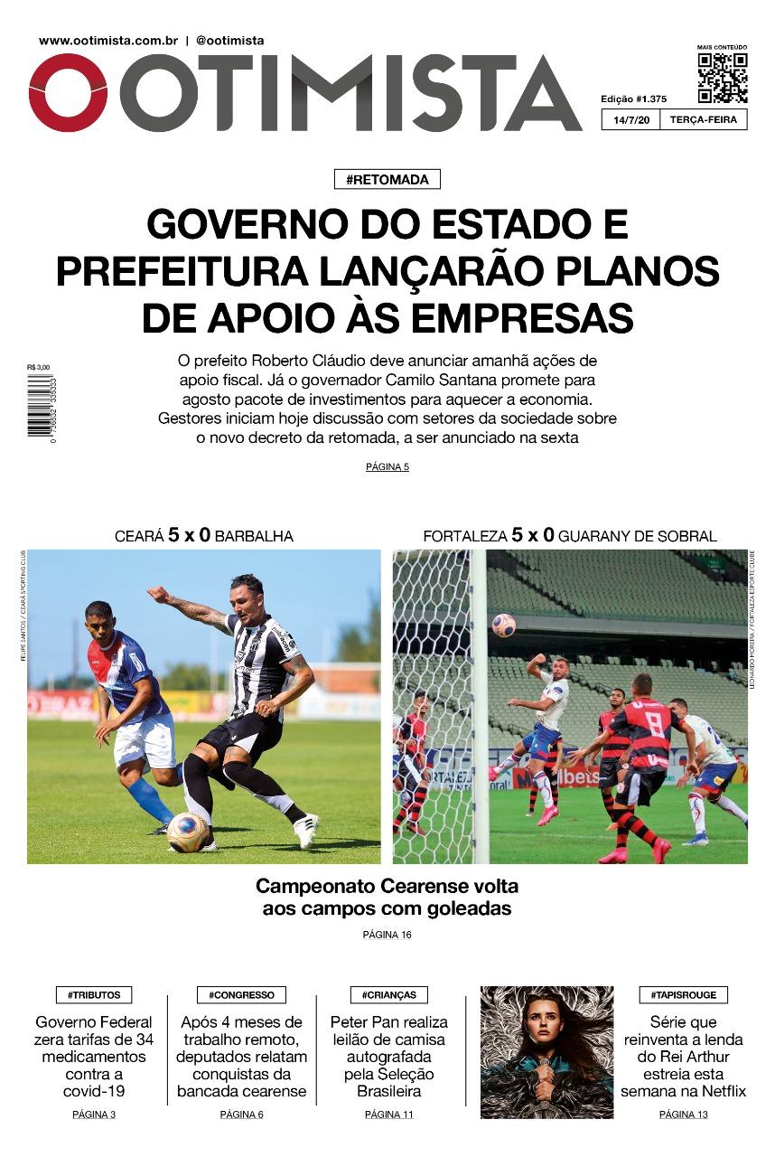 O Otimista - Edição impressa de 14/07/2020