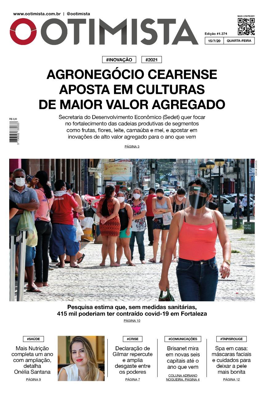 O Otimista - Edição impressa de 15/07/2020