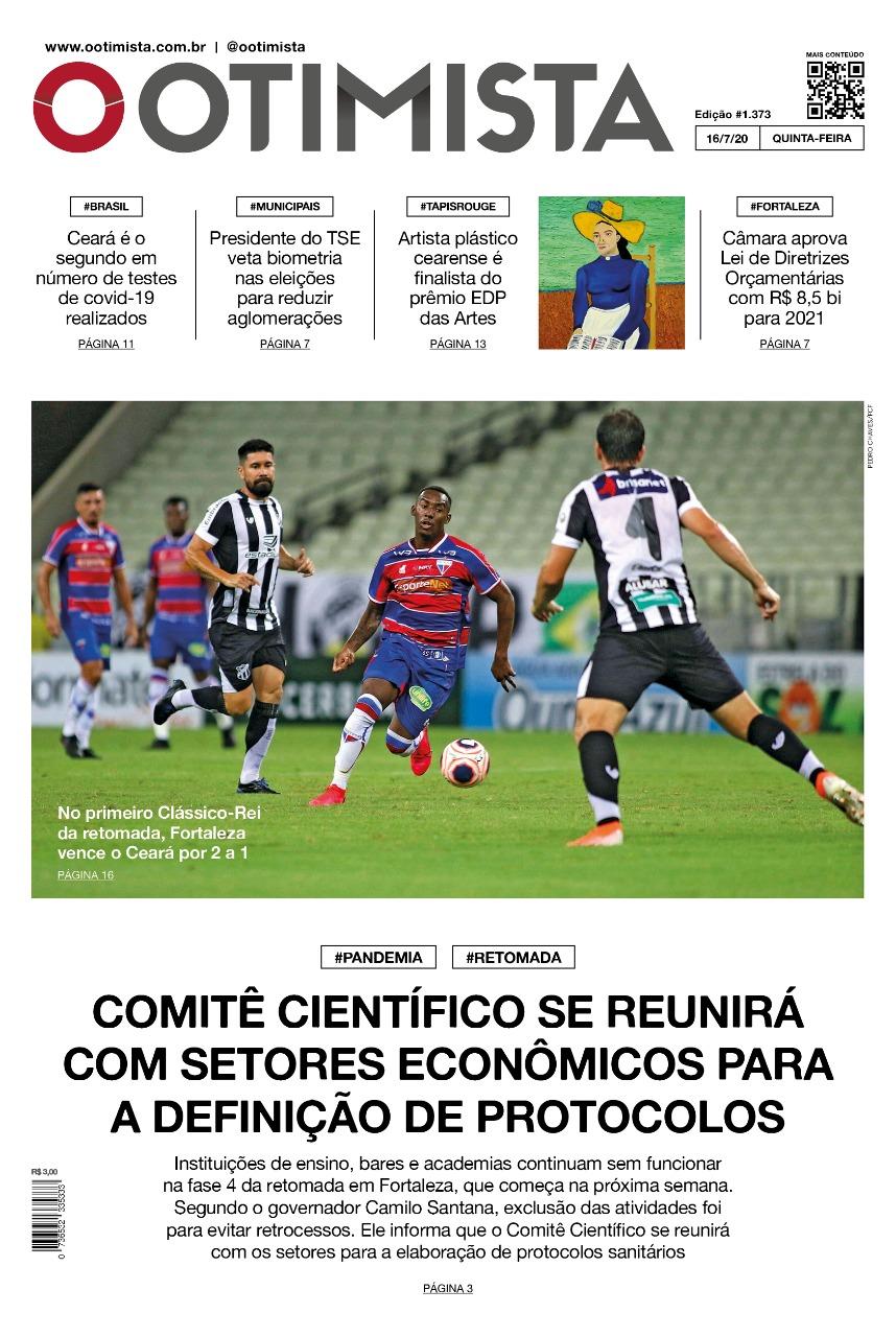 O Otimista – Edição impressa de 16/07/2020