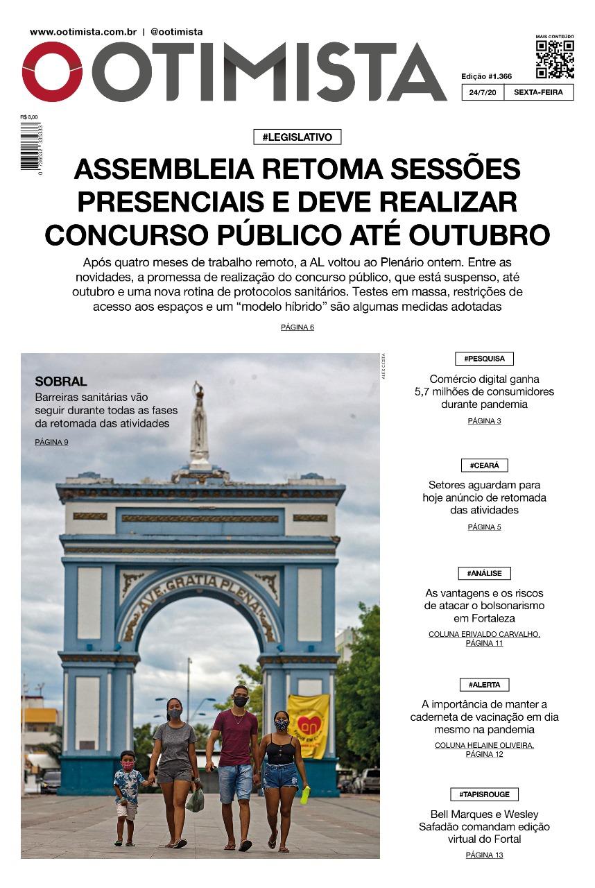 O Otimista - Edição impressa de 24/07//2020