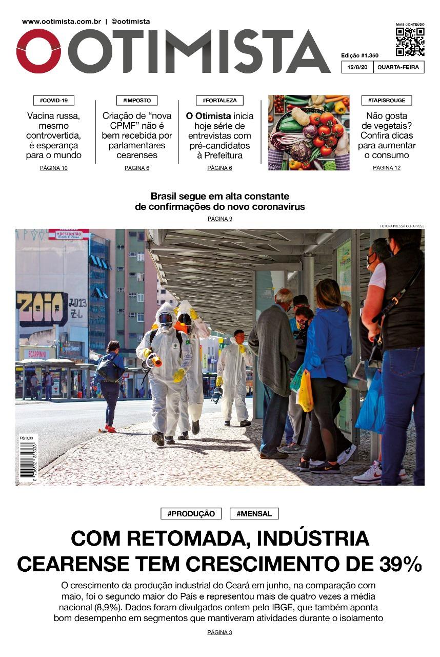 O Otimista - Edição impressa de 12/08/2020